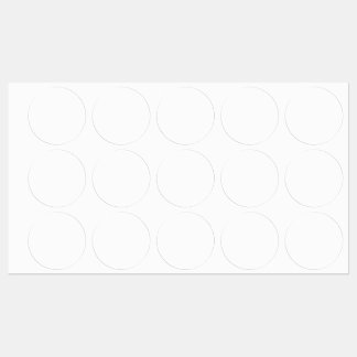 Etiqueta Grande Redonda Adesiva/à prova d'água