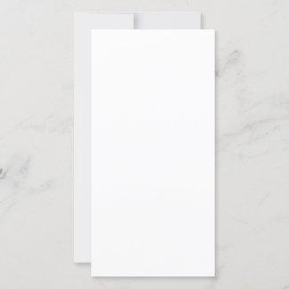 Cartão folha única 20,32 x 10,16 cm