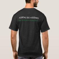 CAMISETA PRETA PORTAL DO ATEÍSMO