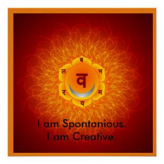 Swadhisthan/papel de poster sacral da meditação de poster perfeito