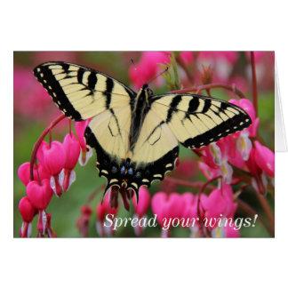 Swallowtail oriental cartão de nota