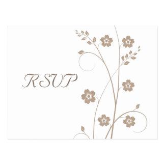 Swirly floresce cartão de RSVP Cartao Postal
