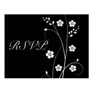 Swirly floresce cartão de RSVP Cartão Postal