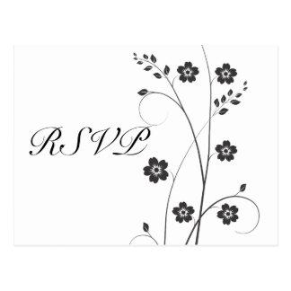 Swirly floresce cartão de RSVP Cartões Postais