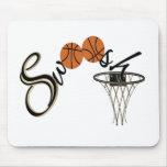 Swoosh do basquetebol mouse pad