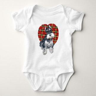Sybil o Schnauzer Onsie/Creeper infantis Body Para Bebê