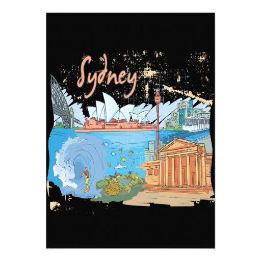 Sydney Convites Personalizado