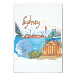 Sydney Convite 12.7 X 17.78cm