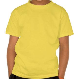 T amarelo da arte do surfista dos meninos de Calif Camisetas
