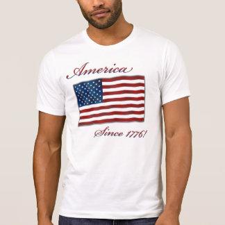 T americano da independência do vintage camiseta