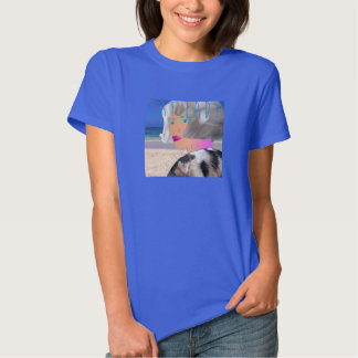T azul básico da senhora do gato t-shirts