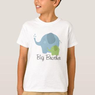 T azul e verde do big brother do elefante dos camiseta