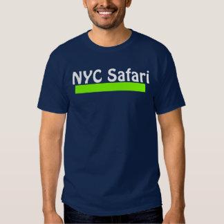 T azul escuro do safari de NYC T-shirts