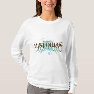 T azul legal do historiador camiseta
