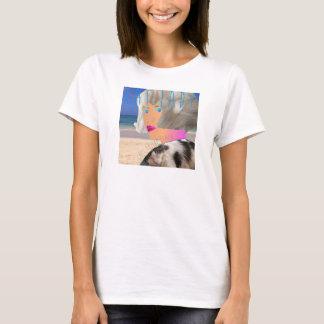 T básico da senhora do gato tshirt