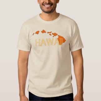 T bege alaranjado das caras das ilhas de Havaí Camiseta