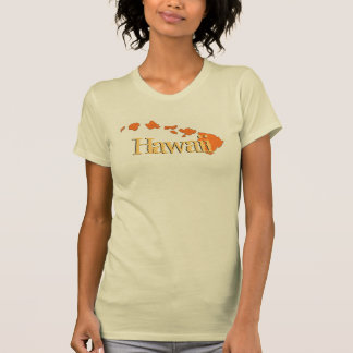 T bege alaranjado das senhoras das ilhas de Havaí T-shirt