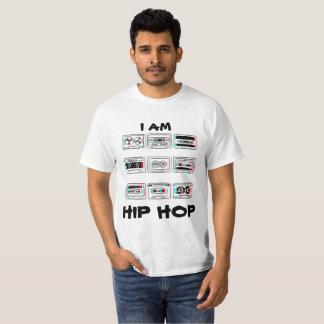 T branco de Hip Hop dos homens Camiseta