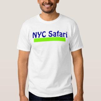 T branco do safari de NYC Camiseta
