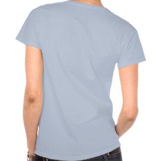 T cabido da frase, com parte traseira bonito do camiseta