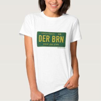 T cabido placa das senhoras de Dearborn 1968 Camiseta