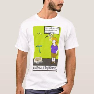T-camisa invisível engraçada dos desenhos animados camiseta
