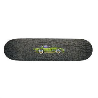 T clássico arte superior da pele de Corveta & de t Shape De Skate 18,1cm