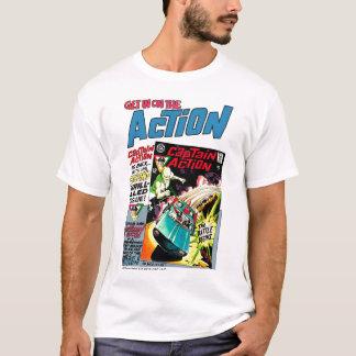 T clássico do anúncio da ação camiseta