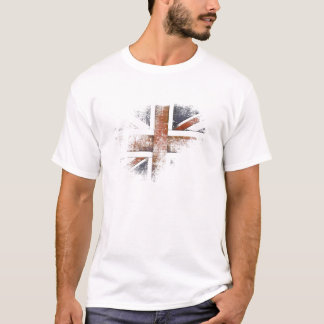 T com a bandeira para fora vestida de Grâ Bretanha Camiseta