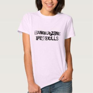 T cor-de-rosa das senhoras de Dangerzone Pitbulls T-shirts