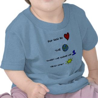 T cristão do bebê - para o deus amou assim o mundo camiseta
