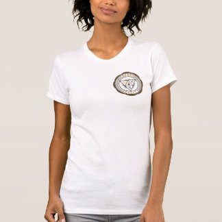 T Curto-Sleeved misterioso T-shirt