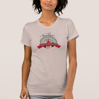 T da acção de graças do Vegan - mulheres malva Camisetas