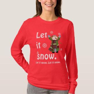 T da alegria do boneco de neve camiseta