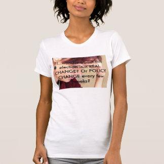 T da alteração de política camiseta