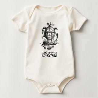 T da aventura do balão de ar quente do vintage body para bebê
