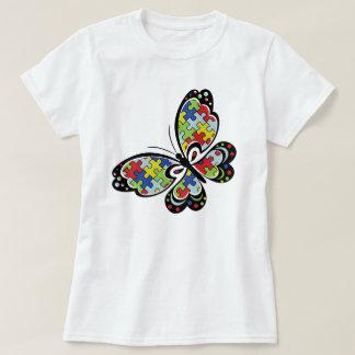 T da borboleta da consciência do autismo camiseta