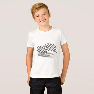 T da competência de carro do cuidado dos meninos camiseta