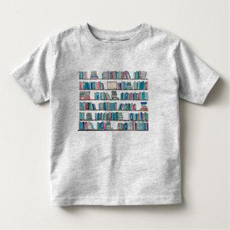 T da criança da biblioteca camiseta infantil
