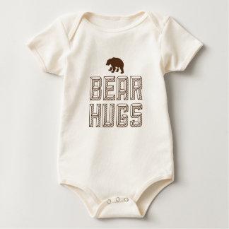 T da criança dos abraços de urso macacões
