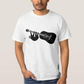 T da guitarra da preguiça camisetas