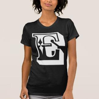"""T da letra do alfabeto de """"E"""" Camisetas"""