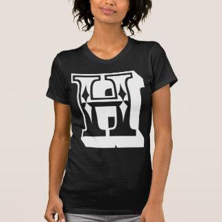 """T da letra do alfabeto de """"H"""" T-shirts"""