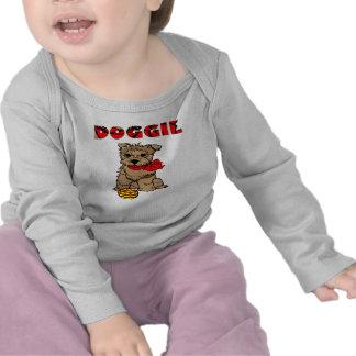 T da longo-luva para o cachorrinho dos miúdos t-shirts