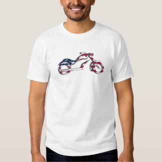 T da motocicleta da bandeira dos EUA T-shirt