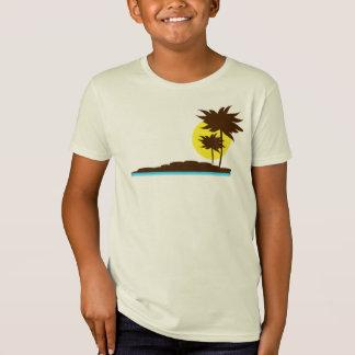 T da palmeira do paraíso da praia do surf dos camiseta