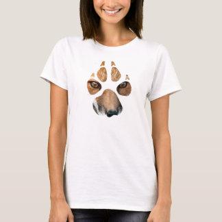 T da pata de raposa das senhoras camiseta