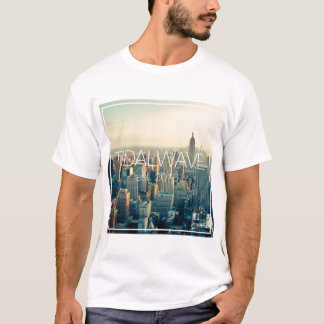"T da ""skyline"" do maremoto - homens camiseta"