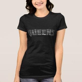 T da tipografia do Queens New York T-shirt