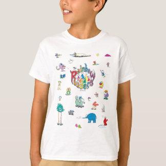 T das criaturas dos cavaleiros do arco-íris camiseta